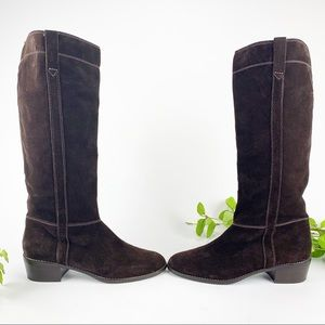 MICHAEL Michael Kors Shoes - Michael Kors Brown Suede Pull On Riding Boots